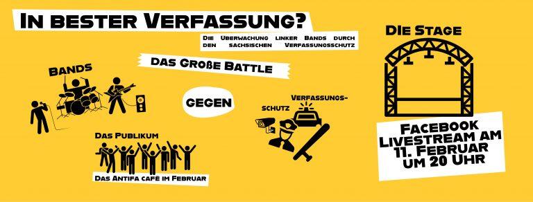 Antifa Cafe: In bester Verfassung?! – Die Überwachung linker Bands durch den sächsischen Verfassungsschutz