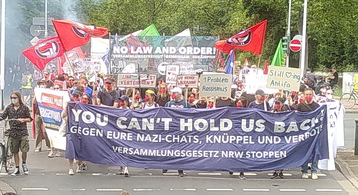 Versammlungsgesetz NRW stoppen! – Kundgebung III – 26.06.2021